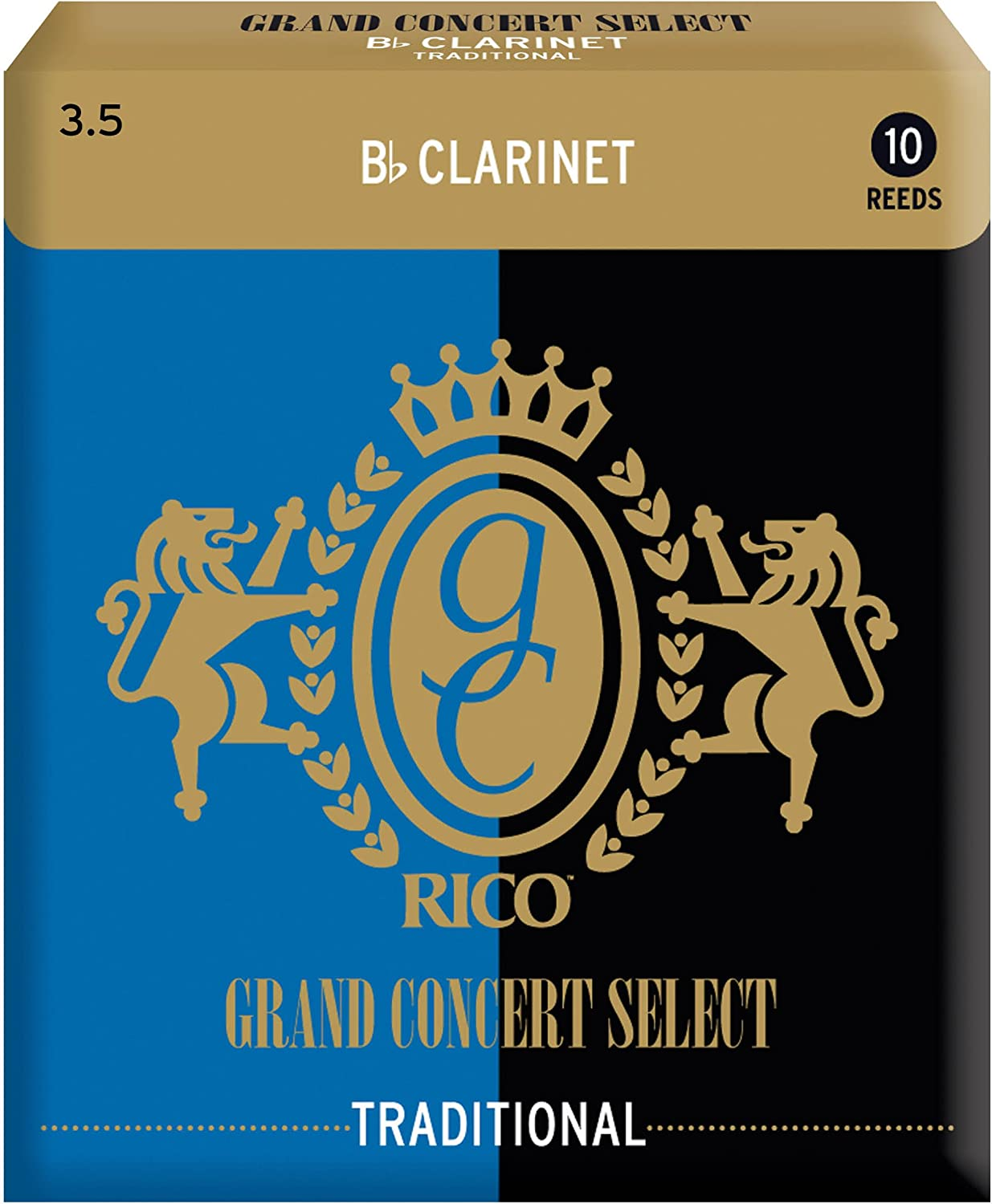 Strength 2.0 10-pack Rico Grand Concert Select Traditional Bb Clarinet Reeds
