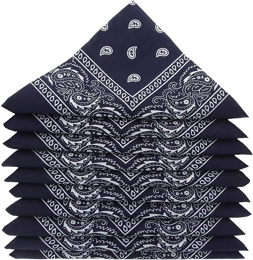 KARL LOVEN – Lote de pañuelos 100% algodón Paisley pañuelo fichu bandana – Lote de 600 unidades azul marino: Amazon.es: Ropa y accesorios