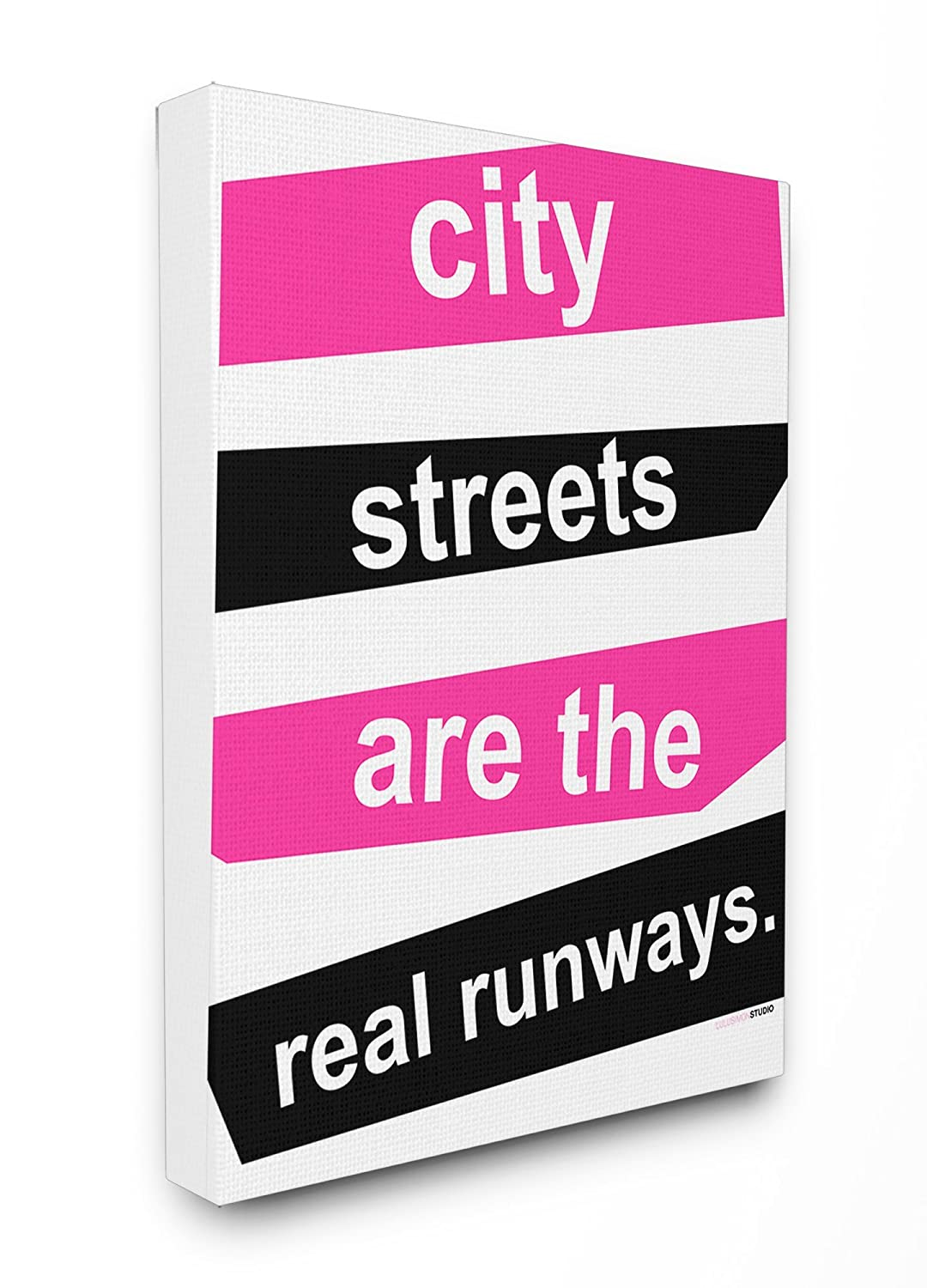 Stupell Home D/écor City Streets Are the Real Runways Oversized Stretched Canvas Wall Art Proudly Made in USA 24 x 1.5 x 30