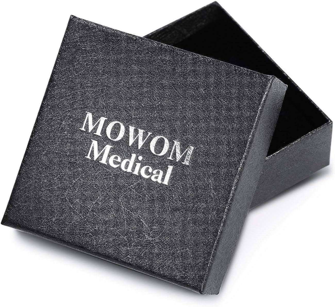 MOWOM Medical SOS Notfall Armband Personalisiertes Gravur Silikon Edelstahl Namensarmband M/änner Damen Jungen M/ädchen B/ündel mit Notfallkarte Kartenh/ülle