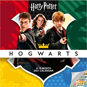 Harry Potter Calendar 2021 Bundle - Deluxe 2021 Harry Potter Hogwarts Wall Calendar with Over 100 Calendar Stickers (Harry Potter Gifts, Office Supplies)