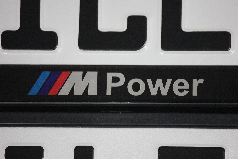 2 Kennzeichenhalter M Power Edel Design NEUHEIT ! Limitierte Auflage ...