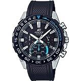 Casio Men's Edifice Stainless Steel Quartz Watch with Resin Strap, Black, 22 (Model: EFS-S550PB-1AVCR)