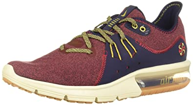 online store a1bd3 807fb Nike Men s Air Max Sequent 3 PRM VST Low-Top Sneakers, Multicolour (Red