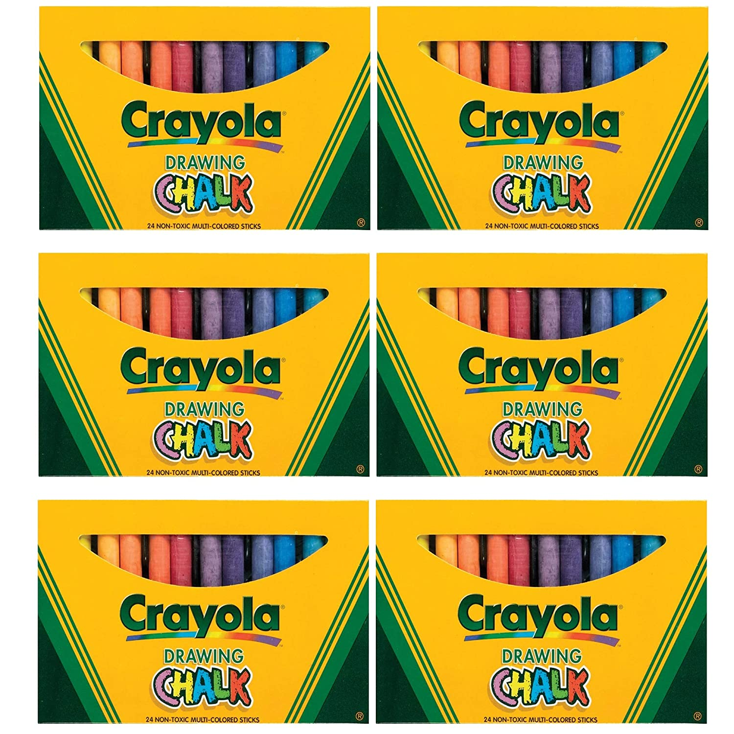Box of 24 6 Pack Assorted Colors Drawing Chalk