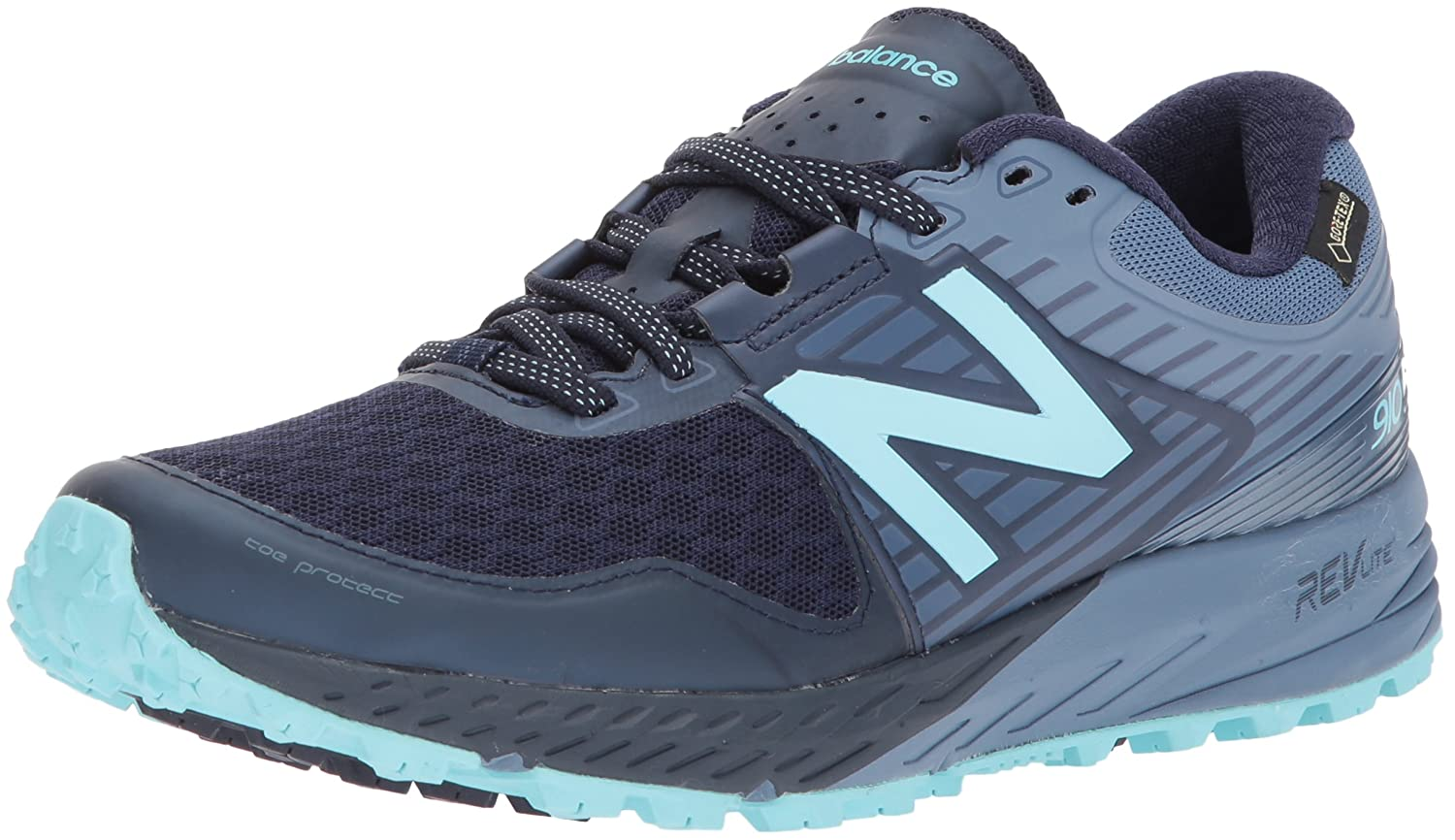 New Balance Women's 910v4 Gore-Tex Running Shoe B01NBA2QTM 10 B(M) US|Pigment/Porcelain Blue
