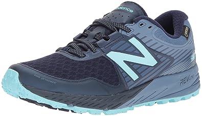 New Balance Womens 910V4 Gore-Tex Running Shoe Pigment/Porcelain Blue 5 ...