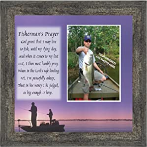 Fisherman's Prayer, Personalized Fishermens Gifts for The One You Love, Fishing Décor Picture Frame 9701BW