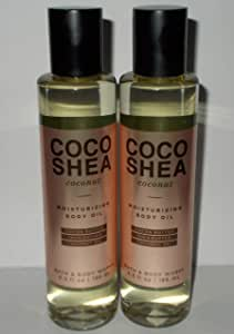 Bath and Body Works 2 Pack Cocoshea Coconut Moisturizing Body Oil 6.3 Oz.