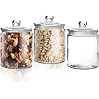 Pasabahce Elips Large Glass Jar Food Preserve Airtight Container Storage Lid NEW