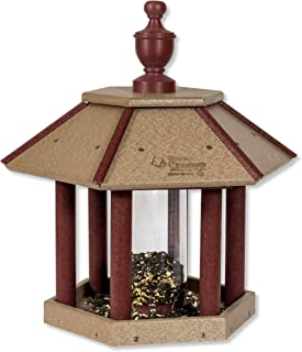product image for DutchCrafters Gazebo Shaped Poly Bird Feeder (Light Gray & Cherry Wood)