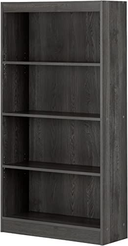 South Shore 4-Shelf Storage Bookcase, Gray Oak