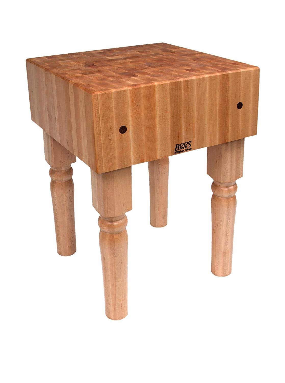 BoosBlock AB Prep Table with Butcher Block Top Size 30 W x 24 D
