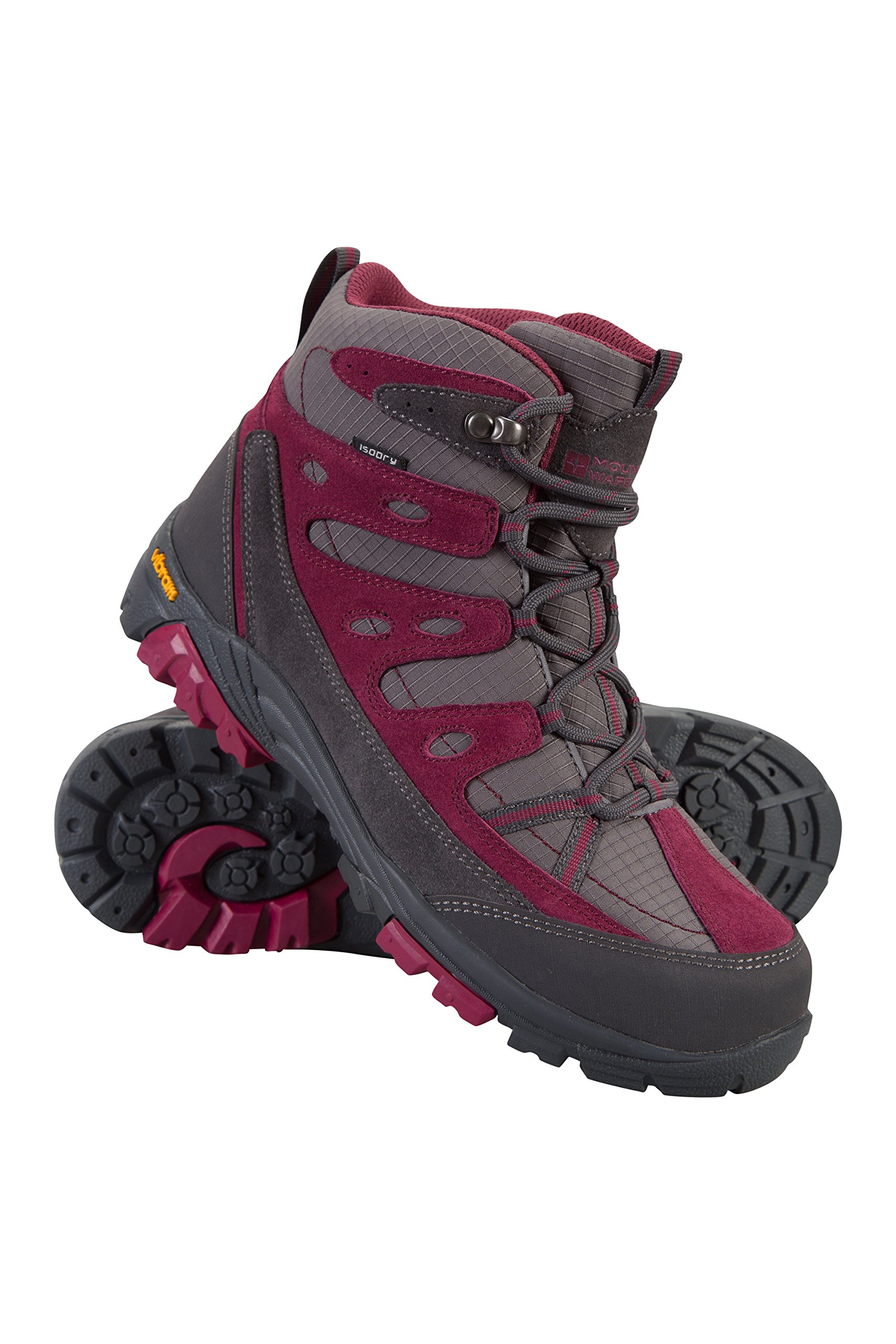 Mountain Warehouse Nevis Vibram Kids Boots -Childrens Summer Shoes Berry 5 Child US