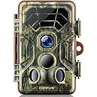 Campark Wildkamera HD Wasserdichte Jagdkamera120 ° Weitwinkelobjektiv Nachtsicht Infrarot für Außen- und Heimüberwachung