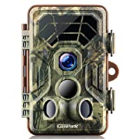 Campark Trail Game Cameras HD Waterproof Wildlife Deer Hunting Cams 120° Detecting Range Motion Activated Night Vision Infrared Outdoor Field Nature Wild Scouting Home Security
