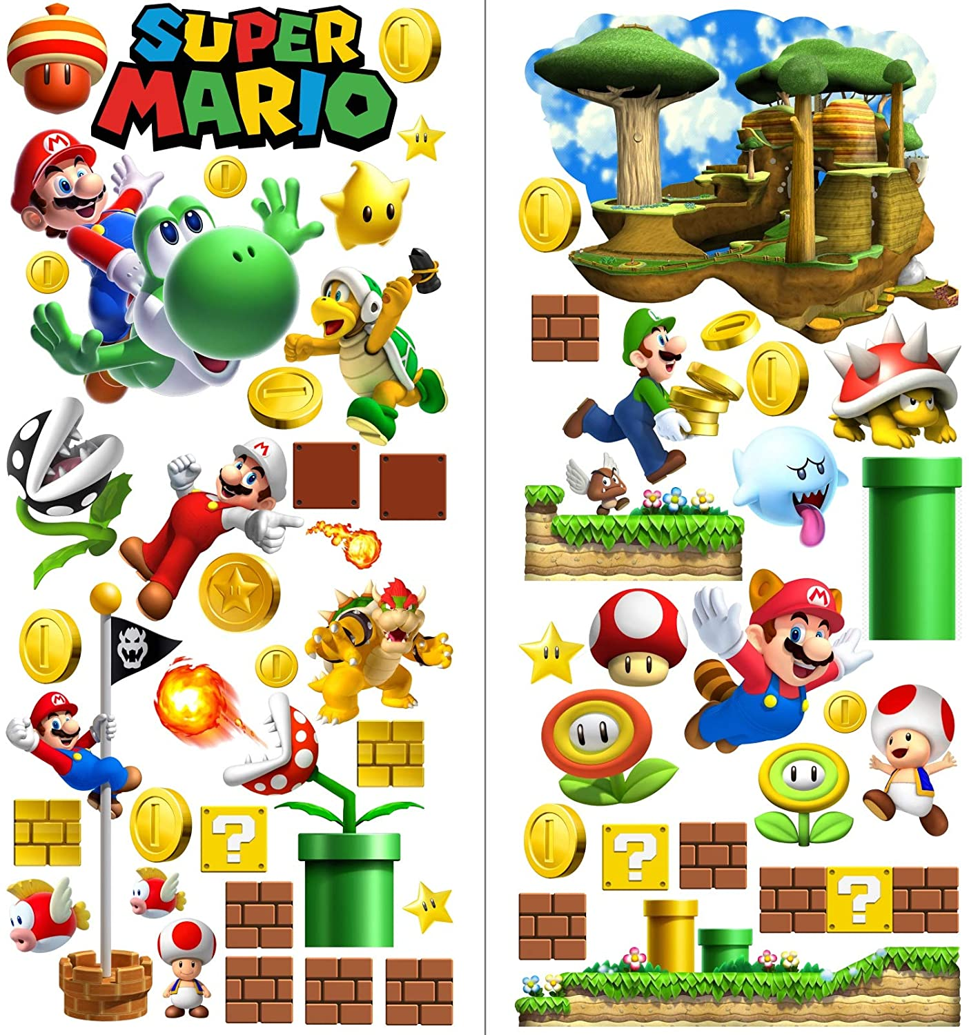 Mario Stickers Wall Art Decal Finedeco
