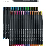 46 Pack Journal Planner Colored Pens, Lineon 40 Colors Fineliner Pens with 6 Different Stencils, Perfect Set for Journal…