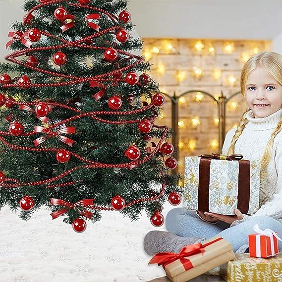 Walant 122cm Baumdecke Weihnachtsbaum,Weihnachtsbaum Decke Weich Wei/ß Kunstfell Weihnachtsbaum R/öcke mit Schneeflocken auf der Oberfl/äche Perfekt Weihnachtsbaum Deko Gold
