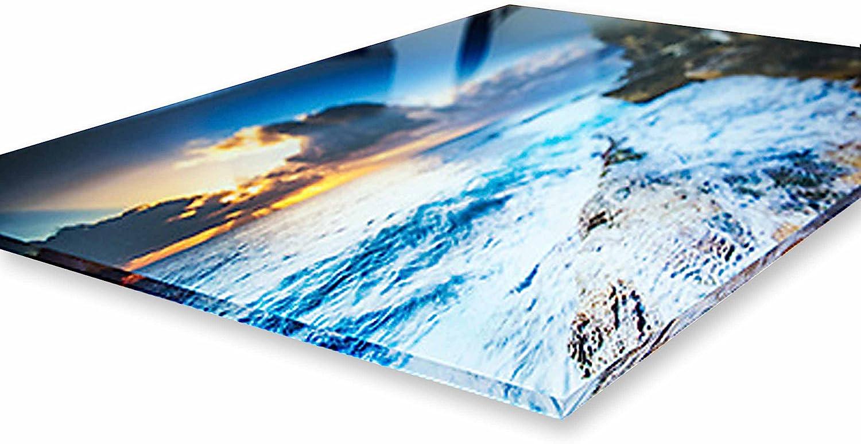 Pronto da Appendere Vari Formati 50x70 cm Moderazione Kandinsky Stampa su su Vetro Acrilico plexiglass Quadro Giallobus