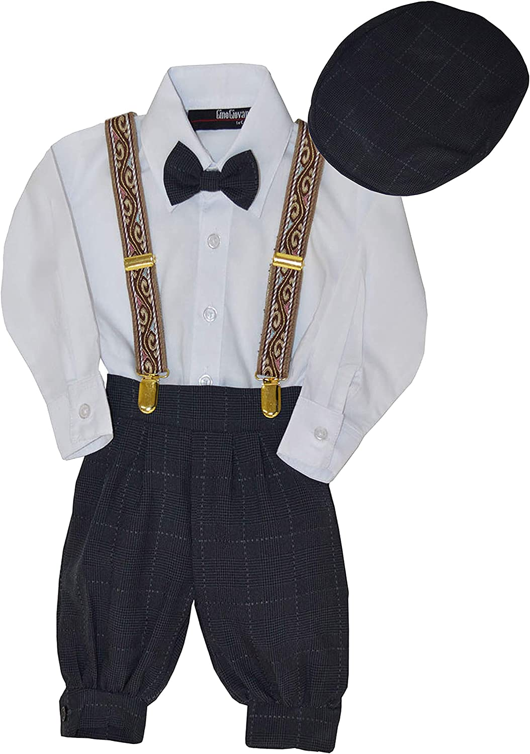 G284 Gino Giovanni Baby Boys Vintage Style Knickers Outfit Suspenders Set