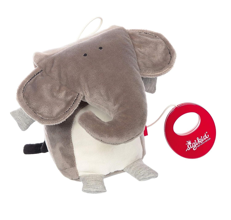 Elefant M/ädchen und Jungen 42346 Urban Baby Grau Spieluhr sigikid