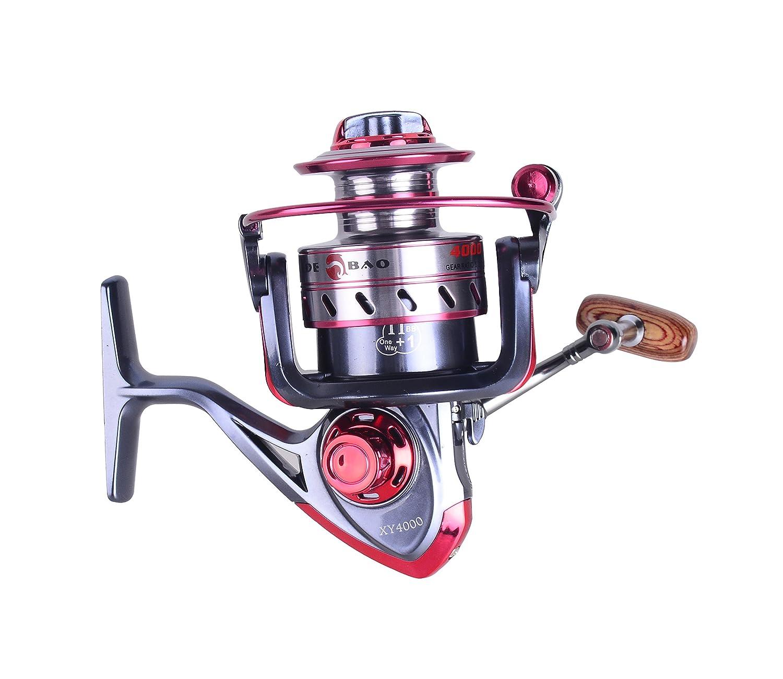 釣りリールスピニングリールxy4000メタルボディ12 + 1bb左/右交換可能for淡水海水 B074SFQB9V
