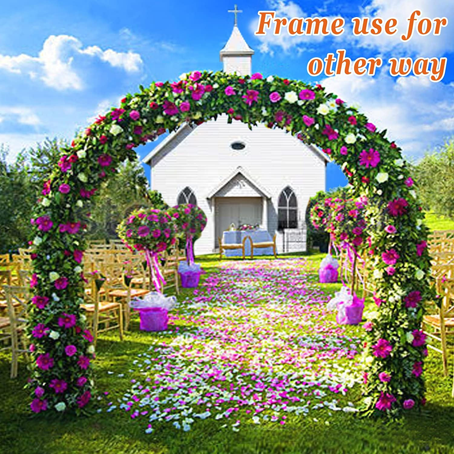 Strong Camel Multi-use Support Arch Frame for Climbing Plants//Flowers//Vegetables Size 20 X 10 X 7 Greenhouse Frame