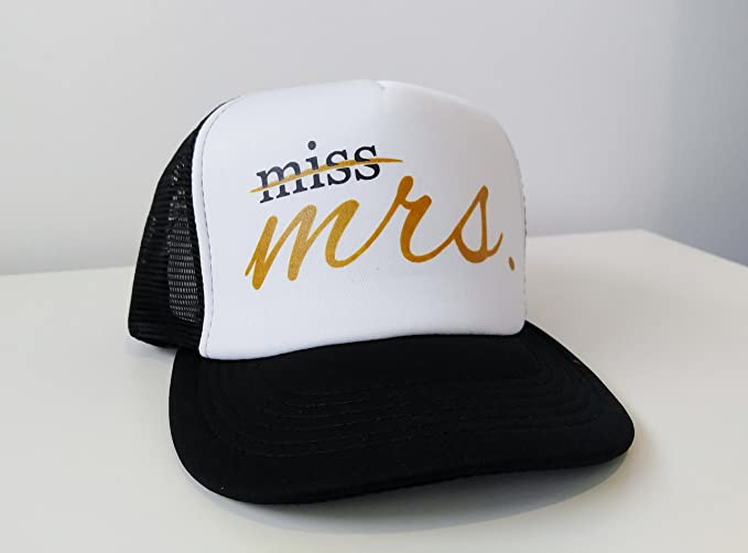 1eba9ac4496d0 Amazon.com  Miss to Mrs Trucker Hat Bride Gift Bride Hat Bride Cap  Bachelorette Party Caps Gift Bride To Be Gift Bridal Shower Gift Bride  Baseball Cap  Home ...
