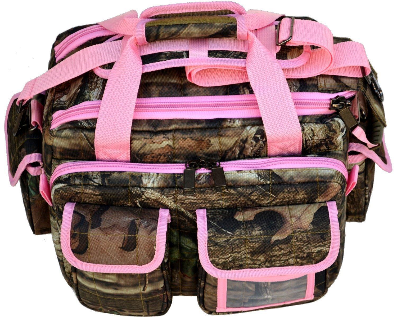 Explorer 8 Pistol Tactical Range Go Bag Assault Gear Hiking EDC Camera Bag MOLLE Modular Deployment Compact Utility Military Surplus Gear (Mossy Oak Pink Trim) by Explorer
