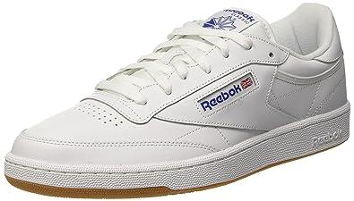 buy popular 5e06b b971e Reebok Club C 85, Bas homme - Blanc (Intense White Royal-Gum
