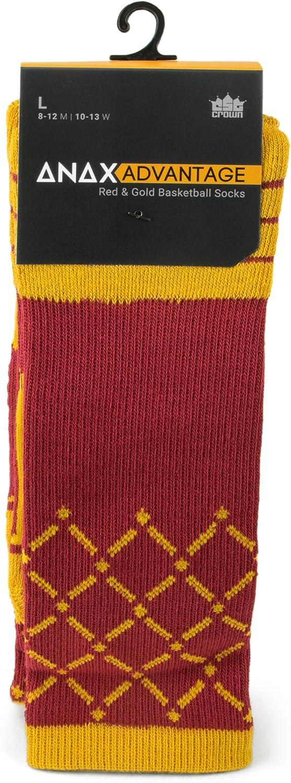 Anax Advantage Cooldry Light Compression Crew Basketball Socks by Crown Sporting Goods Basketball Net Socks