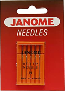 Janome Red Tip 5 Needle Pack Size 14