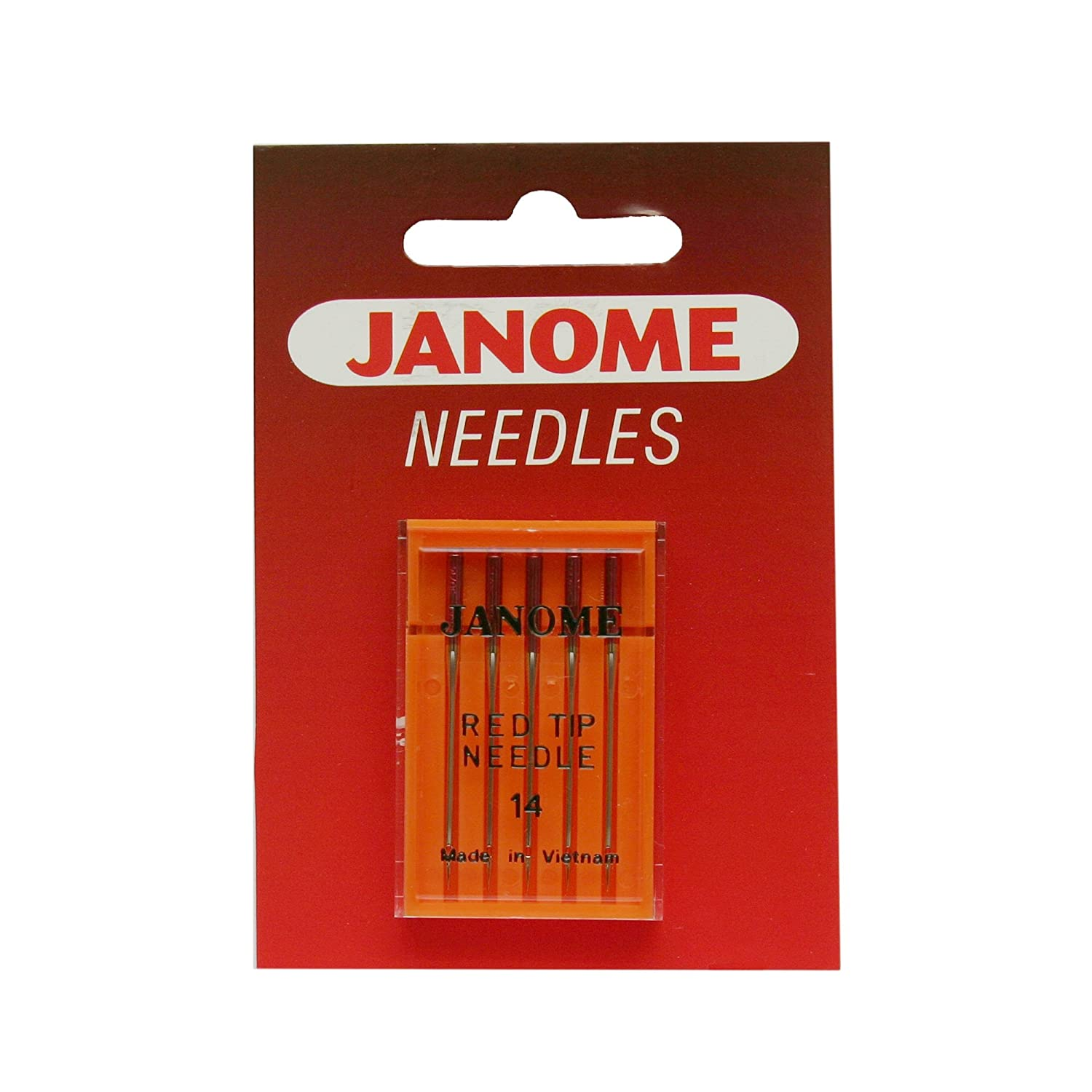 Janome Red Tip 5 Needle Pack Size 14 FBA_990314000