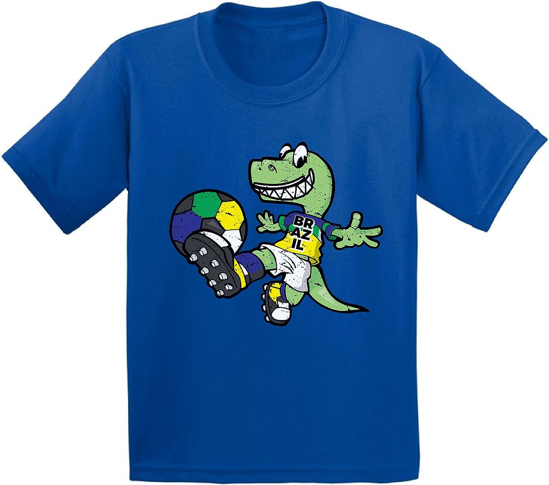 Awkward Styles Brazil Toddler Soccer Shirt Dinosaur Shirt Toddler Boys Soccer Girl
