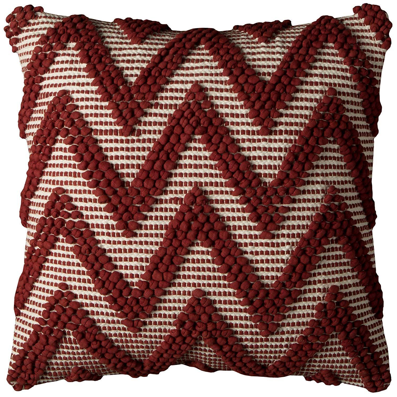 "NEW Throw Pillow lumbar  Holiday Plaid 36/""x14/""x6/"" Rectangle RED Black"