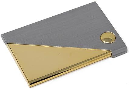 Amazon silver gold envelope slim business card holder office silver gold envelope slim business card holder colourmoves