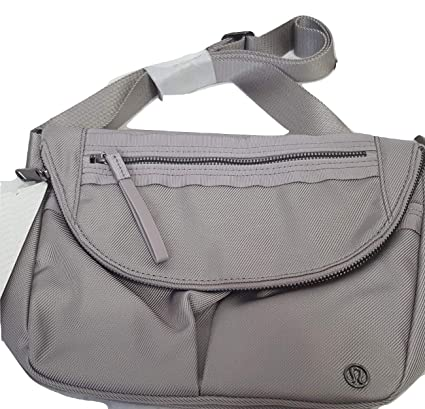 ebea5c2919b Amazon.com: LULULEMON - Crossbody Lululemon Festival Bag Crossbody Static  Chrome Grey: Sports & Outdoors