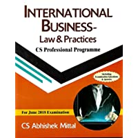 International Business- Law & Practices CS Professional Programme March 2018