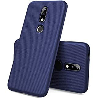 Nokia 7.1 case, KuGi Nokia 7.1 case, JS [Scratch Resistant] Premium Flexible Soft Anti Slip TPU Case for Nokia 7.1 Smartphone(Navy)