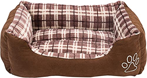 Animals Favorite Rectangle Pet Bed, Checkered