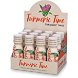 Turmeric Time Turmeric Shots - Turmeric with Ginger, Citrus & Honey | Non-GMO | No Preservatives or Artificial Flavors/Colors