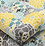 Pillow Perfect Outdoor Full Bloom Wicker Seat