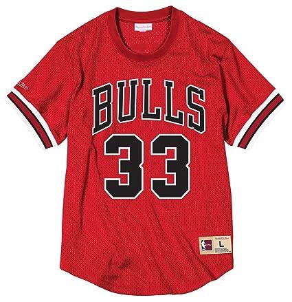 ceb05fbd829 Scottie Pippen Chicago Bulls Mitchell   Ness NBA Men s Mesh Jersey Shirt