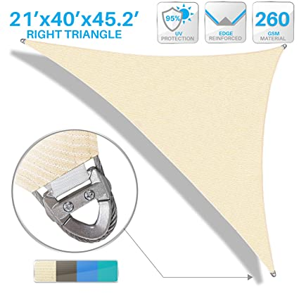 Amazon Com Patio Large Sun Shade Sail 21 X 40 X 45 Right