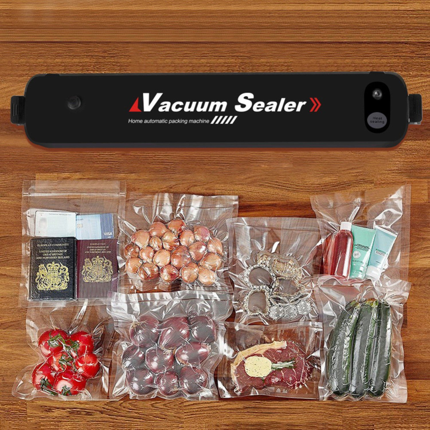 Automatical 90W Household Mini Vacuum Sealer Food Preservation Machine + 15 Sealing Bags Kitchen Tool by Gogil (Image #3)
