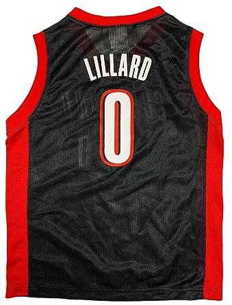 pretty nice 049df 37117 Amazon.com: Damian Lillard Portland Trail Blazers #0 Black ...