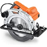 VonHaus 1200W 185mm Multi-Purpose Circular Saw 240V Bevel Angle Joint Cuts - TCT Blade 65mm Cutting Depth – Dust Extraction – Depth and Angle Adjustment