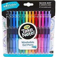 Crayola 58-6414 Take Note Washable Gel Pens (14 Piece)