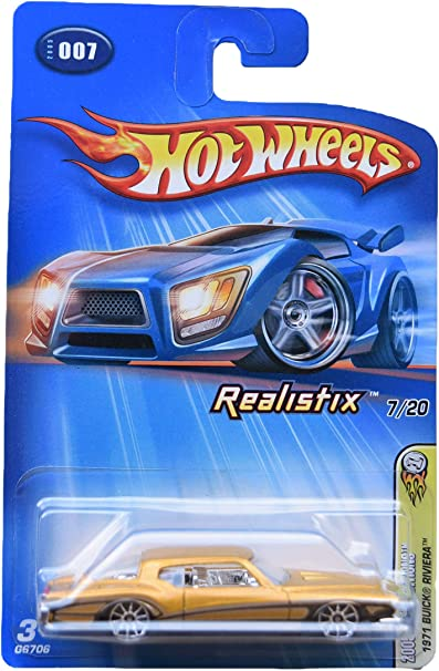 Hot Wheels 1971 Buick Riviera 7 20 Gold 10 Spoke Wheels Toys Games